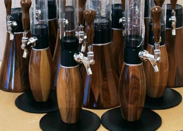 1 liter giraffe beverage dispensers - Walnut Wood