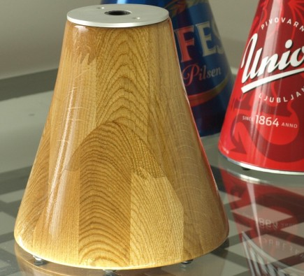 giraffe beverage dispenser - 3L oak base