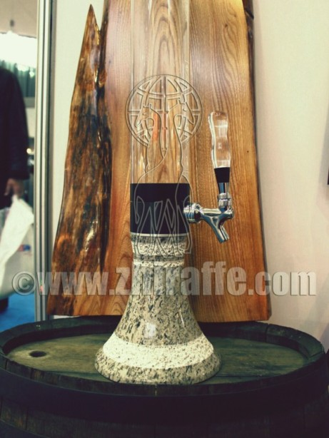stone giraffe beer dispenser