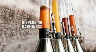 Beer bongs or Giraffes in Brickhouse - portable dispensers dispensing happiness