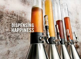 Beer bongs or Giraffes in Brickhouse - portable dispensers dispensing happiness