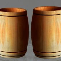 pint wood beer mug beer cup