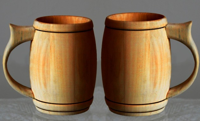 pint wood beer mug beer cup